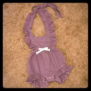 Purple Ellie Romper - Baby Girl